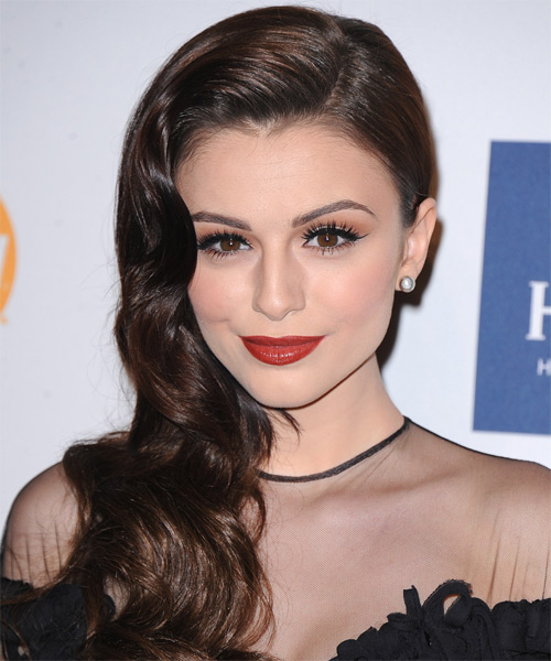 Cher Lloyd Long Wavy Dark Mocha Brunette Hairsty