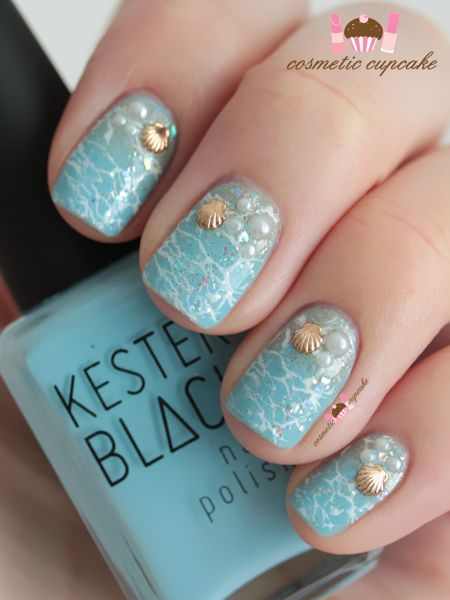 12 Chic Beachy Aqua Manicures For Summer - Nail Art Ideas - Pretty .