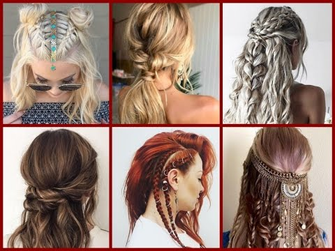 Top-30 Trendy Boho Hairstyles Ideas - Bohemian Hairstyles - YouTu
