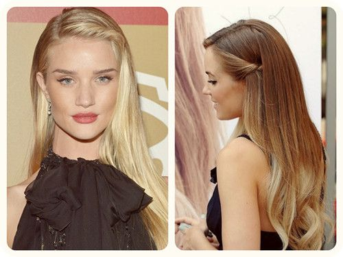 7 Best Easy and Chic Holiday Hairstyle Ideas - | Straight prom .