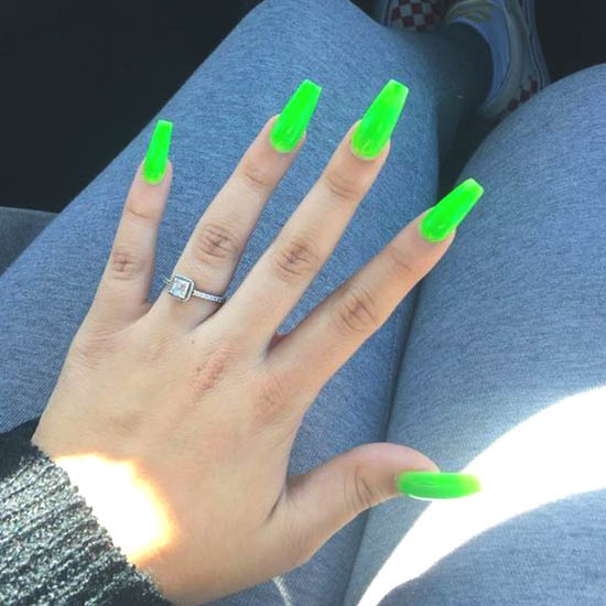 green-neon-summer-nail-art-ideas | Ecemel