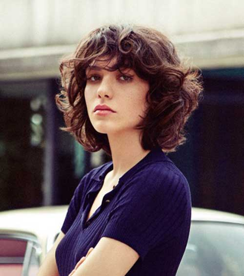 25 Chic Curly Short Hairstyl