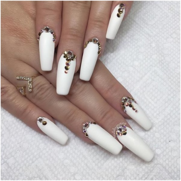 Black white acrylic coffin nail ideas are timeless classics – Chic .