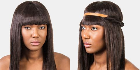 How to Style Bangs - 5 Hairstyles to Keep Your Bangs Out of Your Fa
