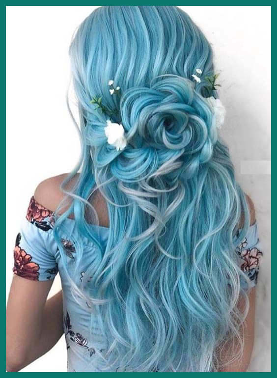 Colored Hairstyles for Long Hair 428413 50 Beautiful Blue .