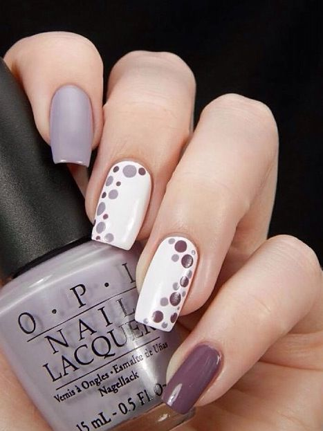 14 Colored Nails You Would Like to Try This Season | Dots nails .