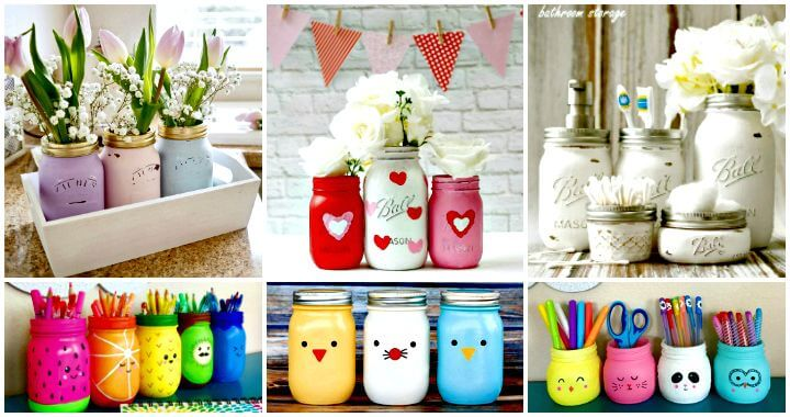 130 Easy Craft Ideas Using Mason Jars for Spring & Summer ⋆ DIY .