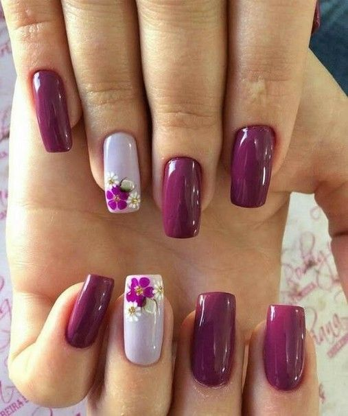 100 amazing nail color for spring summer 2019 page 29   Floral .