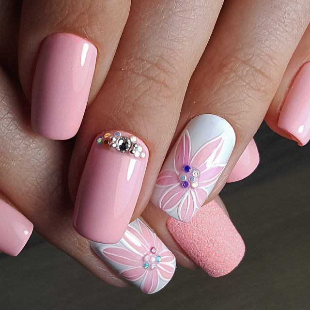 Colorful Flower Nail Designs for Summer