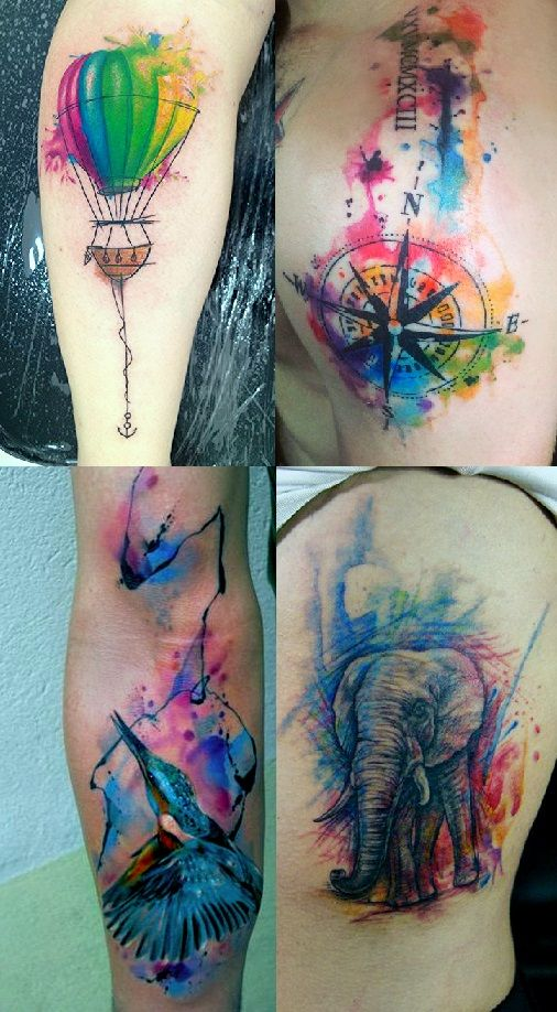 54 Absolutely Fabulous Colorful Tattoo Designs | Cover tattoo .