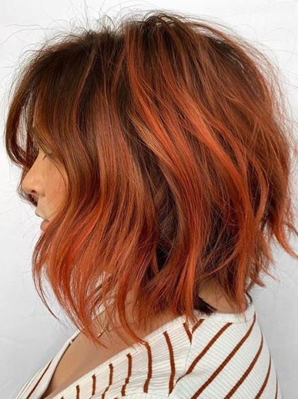 Hottest Copper Rose Hair Colors for Short Hair in Year 2020 .