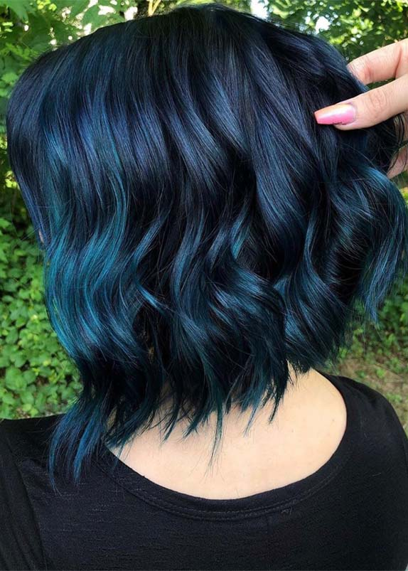 Perfect Ideas Of Blue Hair Colors for Short Hair in Year 2019 .