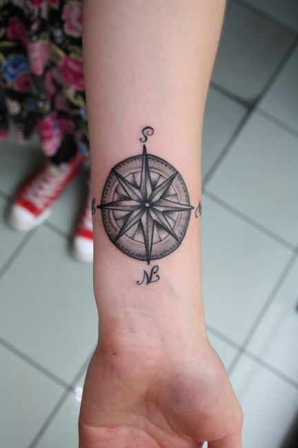 30 Great Compass Tattoos for both Men and Women | Compass tattoo .