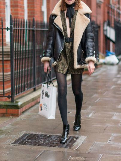 LA COOL & CHIC | Leather jacket outfits, Fashion, Faux fur lined co