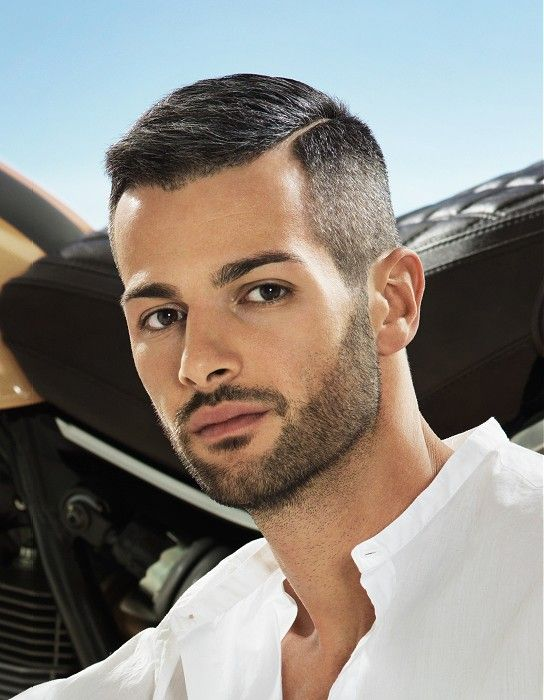 Short Side-Parting Straight Hairstyle Haircut For Men | Side part .
