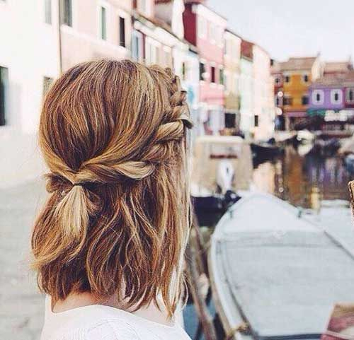 25+ Cute And Easy Hairstyles For Short Hair   Frisuren, Frisur .