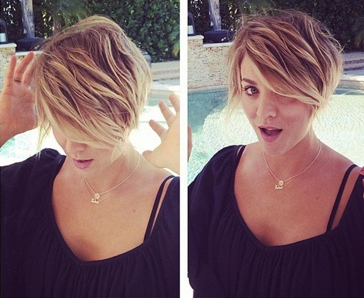 Kaley Cuoco Short Hair Styles - Messy Haircuts for Spring and .
