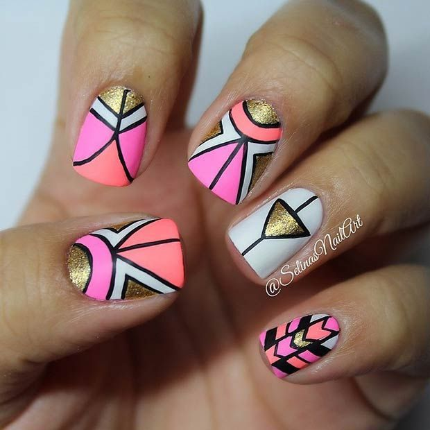 30 Eye-Catching Summer Nail Art Designs | Tribal nails, Tribal .