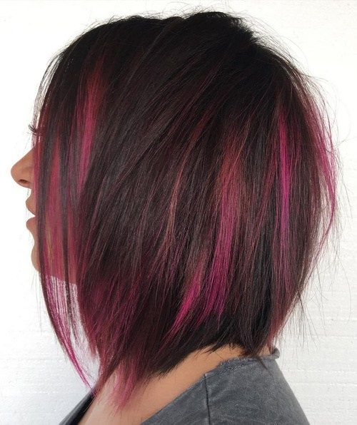 40 Two Tone Hair Styles | Dark hair with highlights, Two toned .