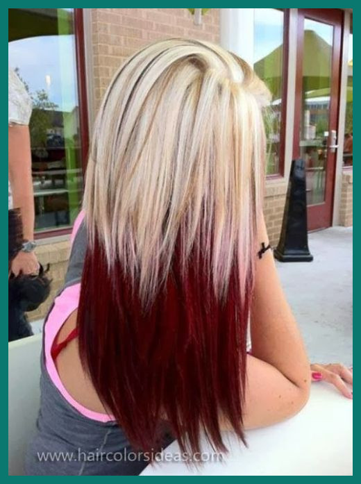 Two tone Hairstyles Long Hair 95500 36 Two tone Hair Color Ideas .