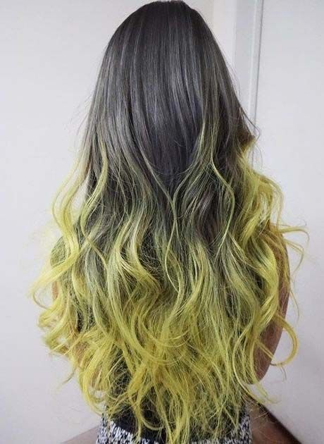 Seaweed Green Cool Two tone Hair Ideas for Long Hair 2019 | Long .