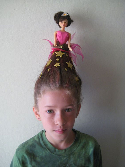 25+ Crazy, Funky & Scary Halloween Hairstyles For Kids & Girls .