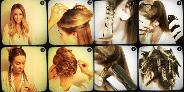 Best, Simple, Easy, Creative & Scary Halloween Hairstyle Tutorials .