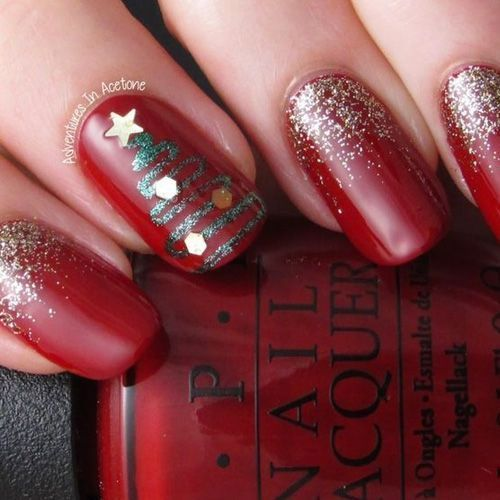 50+ Easy and Eye-catching Christmas Nail Designs | Christmas gel .