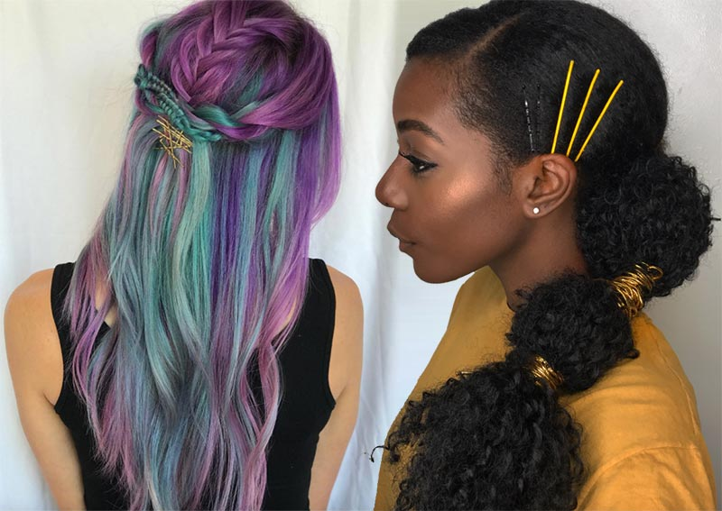 41 Exposed Bobby Pin Hairstyles: How to Use Bobby Pins - Glows