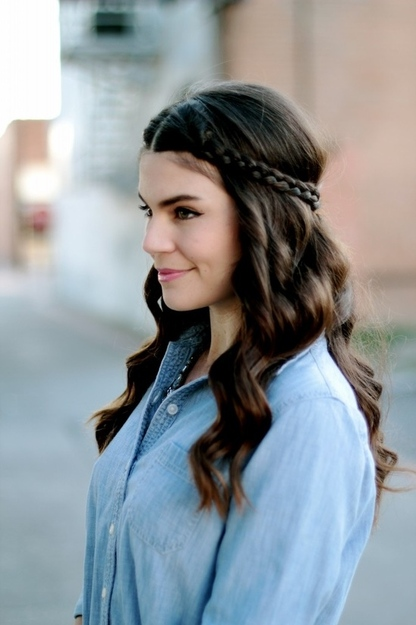 Simple crown braids are a easy summer hair style. Click to learn .