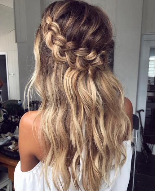 60 Breezy Crown Braid Hairstyles for Summer | Braids for long hair .