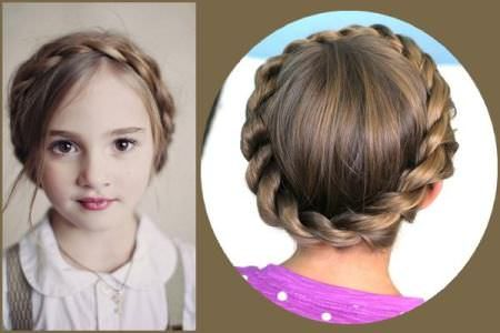 crown braids for kids | Kids hairstyles, Cute hairstyles for short .