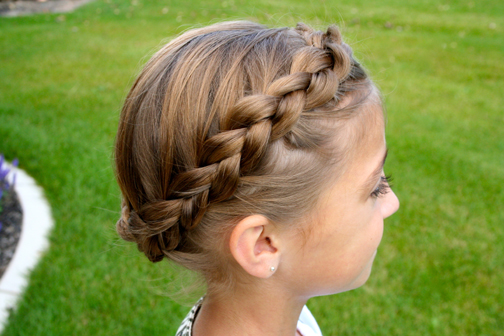 Braided Crown | Updo Hairstyles - Cute Girls Hairstyl