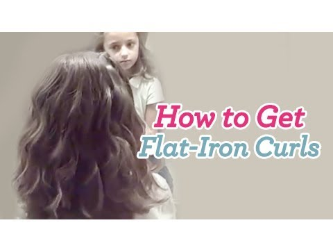 How to Get Flat-Iron Curls | Curly Hair | Cute Girls Hairstyles .