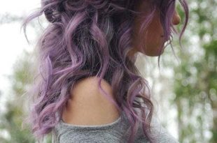 20 Obsessed Purple Curly Hairstyles Trends to Show Off in 2019 .