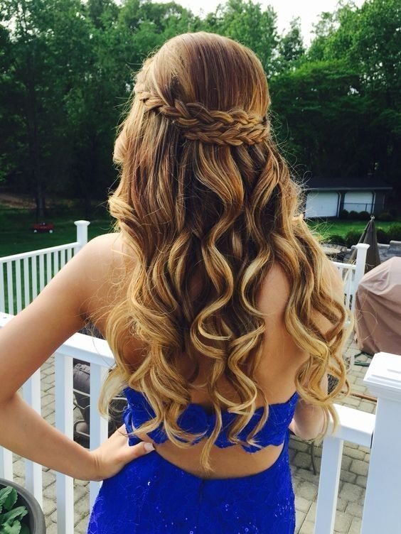 31 Half Up, Half Down Prom Hairstyles | Long hair styles, Medium .