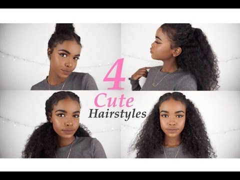 4 CURLY HAIRSTYLES FOR SPRING/SUMMER! - YouTu