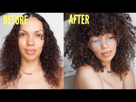 HOW TO : DIY CURLY BANGS | Curly hair styles, Curly hair with .