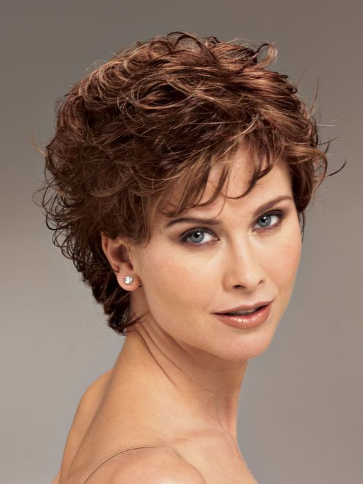 short hairstyles for curly hair women over 40- Hairstyles Portal .