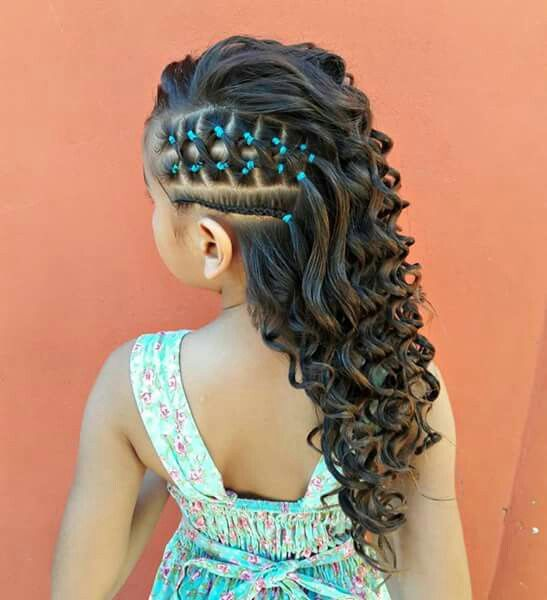 This was a fresh and lovely hairstyle for a little girl who wants .