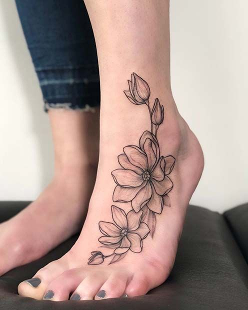 45 Awesome Foot Tattoos for Women | Foot tattoos for women .