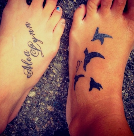 Cute Foot Tattoo Ideas for Girls