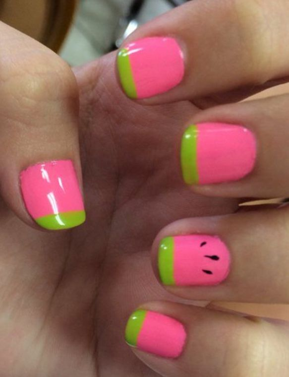 Nails by Zoey Schneitman | Watermelon nails, Nails for kids .