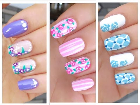 3 Cute Nail Art Designs for Spring/Summer - #1 - YouTu