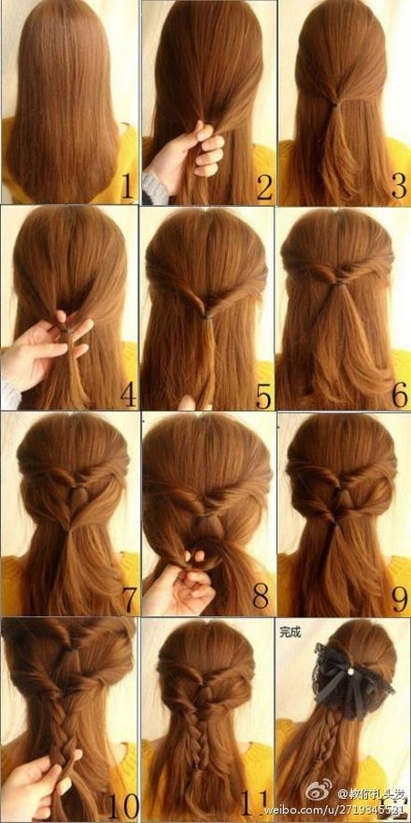 Cute simple hairstyles for long hair #prom hairstyl