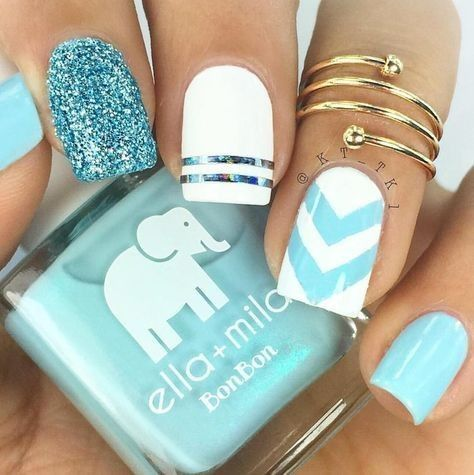 57 Nail Designs That Are So Perfect for Summer 2019 | Bright nail .