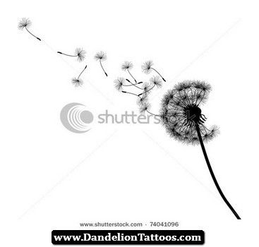 Dandelion Tattoo Design Illustrations 08 (With images) | Dandelion .