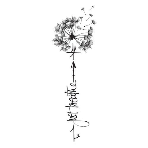Tattoo Design with dandelion Tattoo contest design#tattoo#contest .