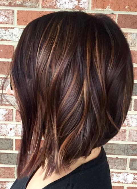 Hair Color Dark Brown Layers with Spring Hairstyles Ideas 2018 .