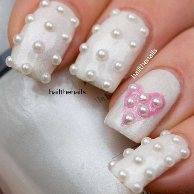 18 Delicate Embellished Nails for This Summer - Pretty Desig